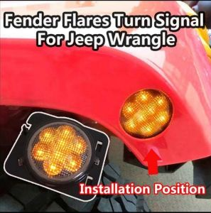LED Front Turn Signal Light Kit for Jeep Jk Wrangler