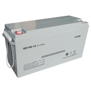 12V Inverter Solar Battery 150ah Rechargeable Lead Acid AGM Battery