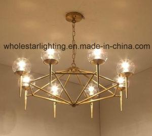 Metal Glass Chandelier (WHG-619) pictures & photos