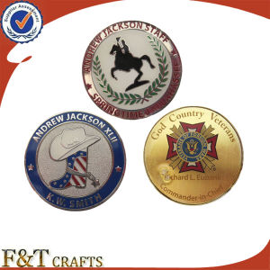 Promotional Custom Metal Challenge Coin with Filling Color pictures & photos