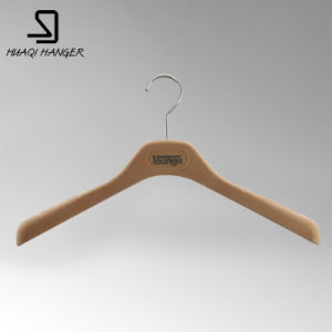 Thick Flocked Shoulder ABS PS Clothes Female Woman Hanger pictures & photos