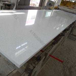 20mm Sparkle White Artificial Quartz Stone Floor Tile pictures & photos
