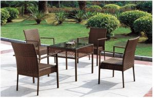 PE Rattan Dining Set Outdoor Furniture pictures & photos