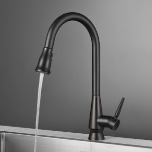 North America Antique Style Orb Finish Pull out Kitchen Faucet pictures & photos