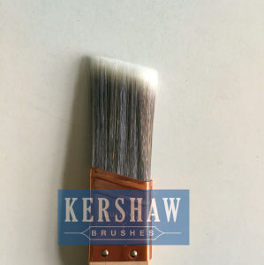 Paint Brush (sash brush, tapered filament flat brush with hard wood rat-tail handle) pictures & photos