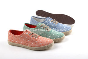 Lady/Girl Style Good Quality of Canvas Shoes/ Lady Espadrilles (SNC-0215042) pictures & photos