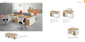 Simple Melamine Office Furniture 1.2m Staff Desk Staff Table Left Cabinet