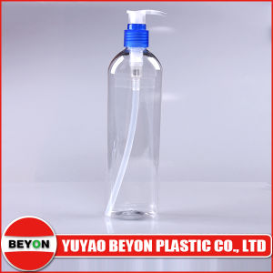 300ml Transparent Oval Shaped Plastic Pet Bottle with Lotion Pump pictures & photos