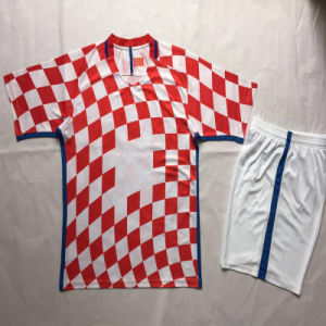 2016 2017 Croatia Red Soccer Kits, Football Tshirts and Short pictures & photos