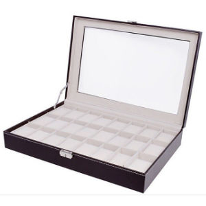 Brown Large 24 Grid Jewelry Watch Case (HX-A0757) pictures & photos