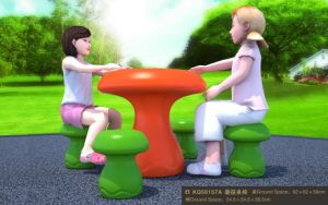 Kaiqi Cute and Colourful Mushroom Themed Children′s Table and Chairs (KQ50157A) pictures & photos
