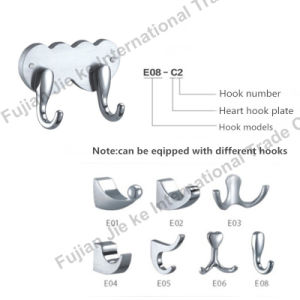 Heart Shape 304 Stainless Steel Bathroom Robe Hook (E08-C2) pictures & photos
