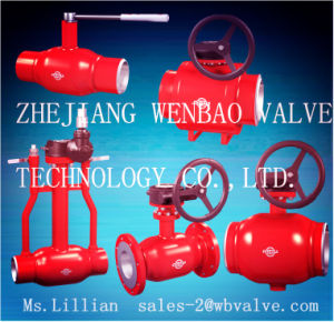 API6d Full Welded Heating Pipeline Ball Valve Pn40 pictures & photos