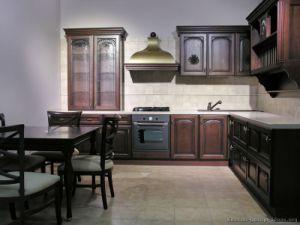 Dark Walnut Kitchen Cabinets (dw22) pictures & photos