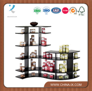 5′ Wide Stepped Contour Wooden Display Rack pictures & photos