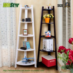 5 Tier Bright and Clean Wood Storage Shelf (WS16-0233, for home storage)