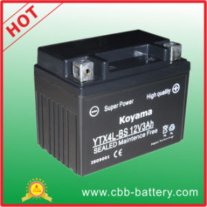 Ytx4l-BS 12V3ah Maintenance Free Motorcycle Battery pictures & photos