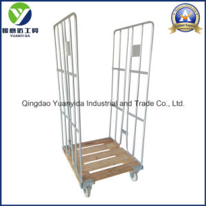 Wheeled 2 Sides Hot Galvanized Storage Roll Container Trolley pictures & photos