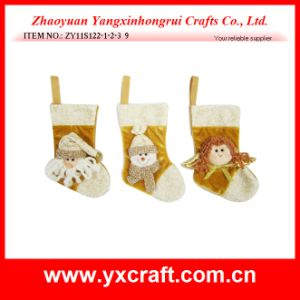 Christmas Decoration (ZY11S122-1-2-3) Christmas Sock Gift Bag Promotion pictures & photos