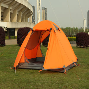 0utdoor Tents 3-4 People Double Aluminum Rod Tent Camping Tents