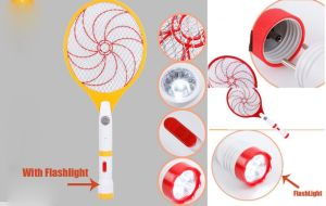 Fly Zapper Swatter Insect Racket Bug with Flashlight Electronic Mosquito Killer pictures & photos