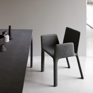 (SD-1003) Modern Hotel Restaurant Steel Frame Fabric Upholstery Restaurant Chair pictures & photos