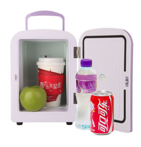 Portable Mini Fridge 4 Liter with DC12V, AC100-240V, Both in Cooling and Warming Function pictures & photos