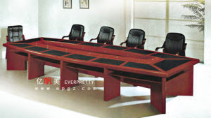 Modern Popular 10 People Office Meeting Table with Wood Veneer pictures & photos