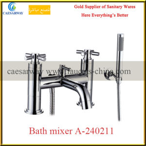 Bathroom Brass Twin Water Basin Sink Faucet pictures & photos