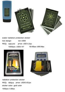 Mobile Phone Radiation Sticker with Negative Ion Anti-Radiational Phone Sticker pictures & photos