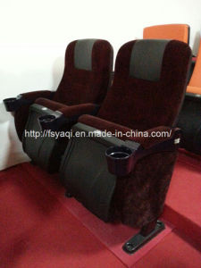 Competitive Price Reclining Cinema Chair with Cup Holders for Sale pictures & photos
