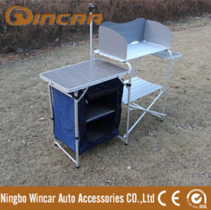 Multifunction Folding BBQ Grill Table with Cabinet