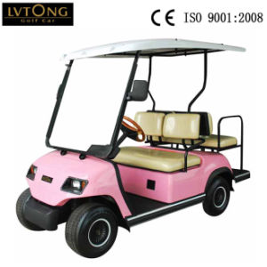 4 Seaters Pink Golf Cart pictures & photos