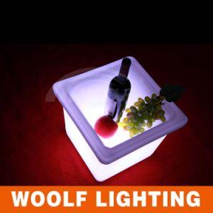 LED Plastic Flower Pots/Colurful LED Pot pictures & photos