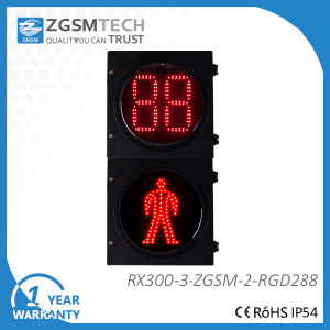 High Flux 300mm LED Pedestiran Traffic Light with 2 Countdown Timer