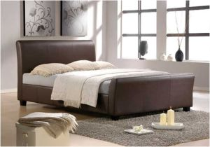 PU Bedroom Modern Brown Bed pictures & photos
