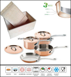 3ply Body Copper Clad Cookware Set Kitchenware pictures & photos
