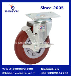 Medium Type Swivel Caster with Side Brake pictures & photos