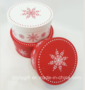 Christmas Snow Printing Round Gift Box Sets pictures & photos