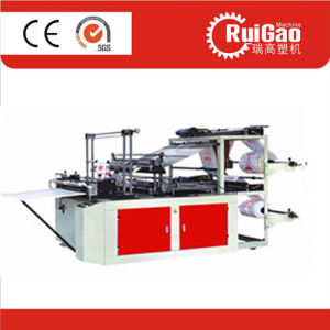 High Speed Double Layer PE Flat Bag Making Machine pictures & photos