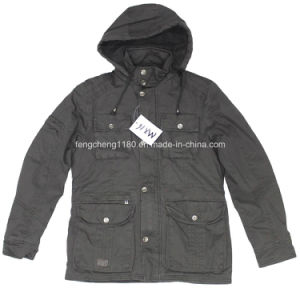 Men Casual Winter Washing Coat/Jacket with Hoody