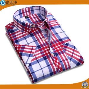 High Quality Men′s Classic Plaid Dress Shirt Business Formal Shirts pictures & photos