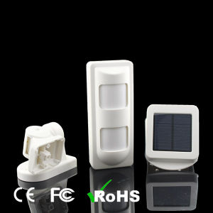 Wireless Solar PIR Outdoor Detector with Microwave and Infrared Detector pictures & photos