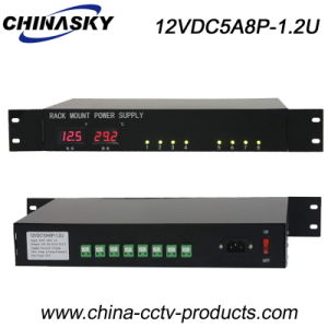 8 Channel 5AMP CCTV Power Supply for Security Camera (12VDC5A8P-1.2U) pictures & photos