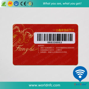 High Frequency RFID Plastic F08 Smart VIP Card with Barcode Card pictures & photos