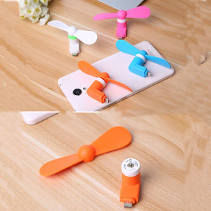2 in 1 Mini OTG USB Fan for Android and iPhone pictures & photos