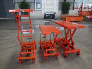 Hydraulic Scissor Table Truck with Top Technology pictures & photos