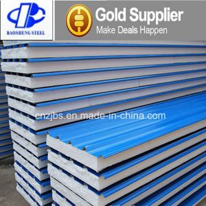 Foam Plystyrene Steel Sandwich Panel for Building with EPS Core pictures & photos