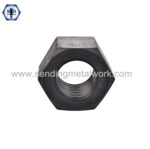 A194 2h Heavy Hex Structural Nut Black Finish