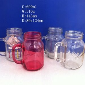 Every Size Mason Jar Glasses with Metal Lid pictures & photos